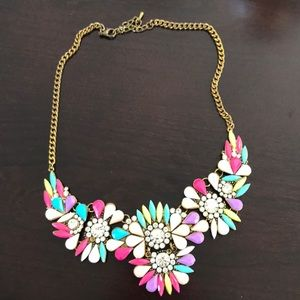 Neon bib necklace